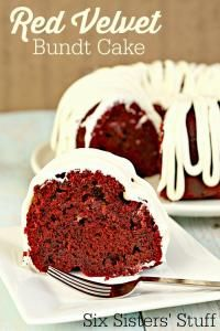 Six Sisters Red Velvet Bundt Cake Recipe. This is a super moist and oh so delicious cake!!