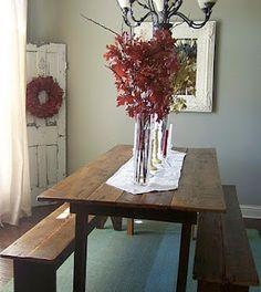 Barn door with fall decor
