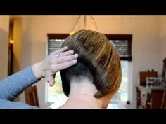 stacked bob with short nape More