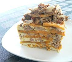 Paleo - crock pot sweet potato and ground beef casserole