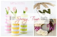 10 DIY Spring Time Crafts. A collection of easy, DIY spring crafts you can do to add a splash of the season to your home.  #diy #diycrafts #spring #springcraftideas #springideas