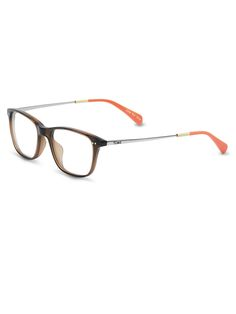 Tortoise rims paired with gold and orange stems strikes the balance of sporty and chic. We bet you'll wear this Jenkins design from #TOMSeyewear on and off the beach.