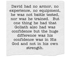 What lesson is there to learn from the account of David and Goliath?  Why is it important to Christians today?  What can we apply in our lives today from this account?