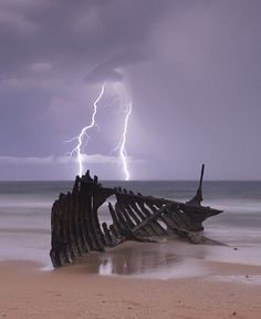 Lightning at the beach