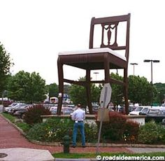 Giant Duncan Phyfe chair - Washington, DC (made of real mahogany in 1958)