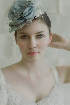 hats, color palett, silk flowers, hair clips, handmade flowers, blues, flower hair, honey, blue roses
