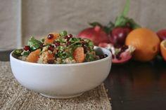 A Cool Pomegranate & Orange QuinoaSalad