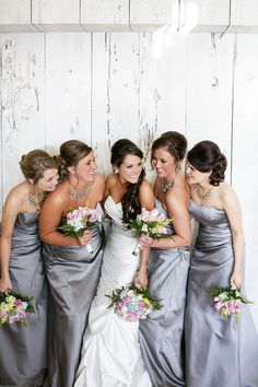 Love the colors! #bridesmaids #wedding #dress #style