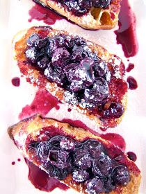 ChowGals: French Toast Crostini w/ Blueberry Sauce