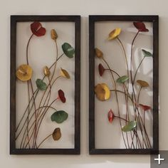 The open design of our sculptural Three-dimensional Metal Poppy Wall Art allows the color and texture of your wall's surface to become part of the artwork. The colorful bouquet of metallic blooms includes paprika, sage, and goldenrod hues.