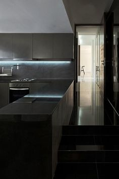 uber modern black kitchen