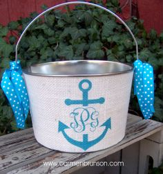 Personalized Easter basket Easter Pail Easter by Ladypaintsalot, $20.00
