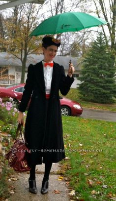Last-Minute Homemade Mary Poppins Costume (That Didn't Cost a Penny!)... Enter the Coolest Halloween Costume Contest at http://ideas.coolest-homemade-costumes.com/submit/
