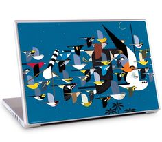 """Missing Migrants by Charley Harper for the 17"""" MacBook Pro"""