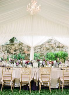 Long Tables, chandelier and draping ~ Photography: Justin DeMutiis Photography // Floral Design: Wildflowers Events & Occasions