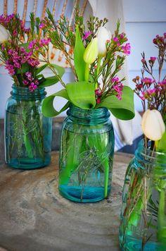 More mason jar flowers