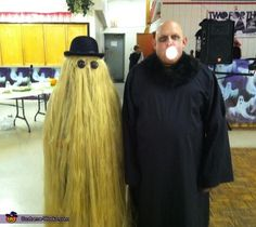 Uncle Fester and Cousin Itt - Couple's Costume Idea