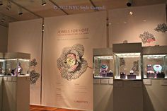 Jewels for Hope - the Lily Safra auction exhibit featuring several pieces by JAR