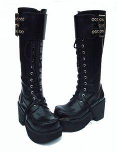 knee high, high heel, lolita boot, heel 18