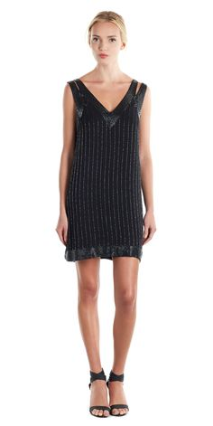 Just what the holidays ordered: our beaded Francoise Dress.
