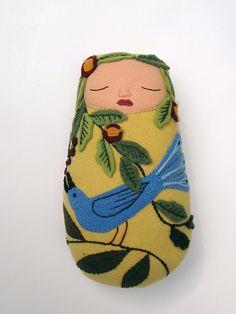 yellow garden baby by Mimi K
