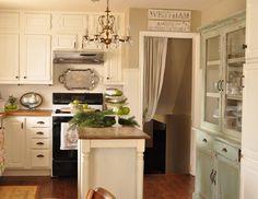 Jennifer Rizzo: Kitchen details....Ikea counters and BM Bennington Grey paint