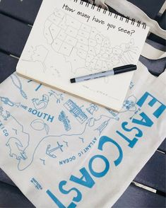 Summer Road Trip Essentials. Hit all 50 states with this cool travel journal and our USA tote in hand!
