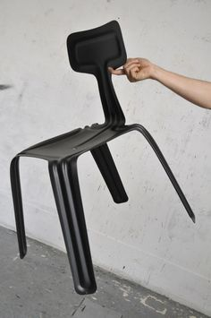 Pressed Chair by Harry Thaler #metal #formwork
