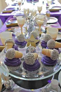 Microphone cupcakes