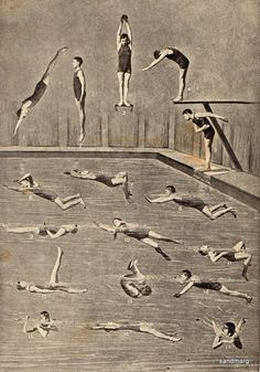 1898 How to Swim and Dive. #vintage