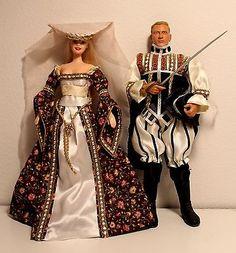 OOAK-Renaissance-Medieval-Fantasy-Barbie-and-Escort