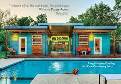 Kanga Room Systems Prefab Cabin Studio Shed Kits - Backyard Office-Guest House-Pool House-Art Studio-Garden Shed-Tiny House Modern and Tradtional Cottage prefab kits