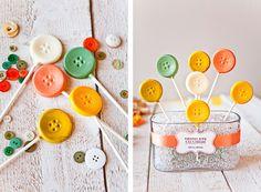 Cute as a button - chocolate lollipops