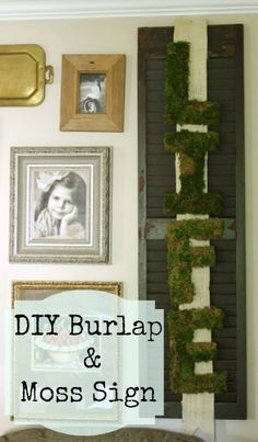 burlap and moss wall hangings, crafts, gardening, home decor, repurposing upcycling, Easy DIY Burlap and Moss Wall Hanging