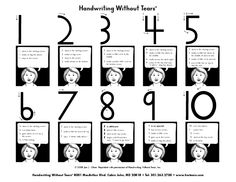 The Handwriting Without Tears Difference Numbers