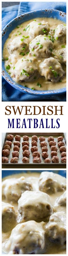 "Swedish Meatballs - so tender with a flavorful gravy. Serve over noodles or rice. <a href=""http://the-girl-who-ate-everything.com"" rel=""nofollow"" target=""_blank"">the-girl-who-ate-...</a>"