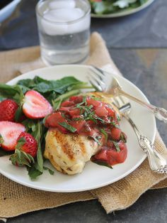 Grilled Chicken with Strawberry Basil Sauce |