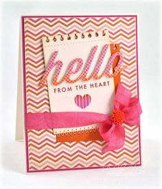 Orange and pink DP card (October Afternoon Woodland Park)