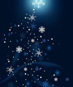 Navy Blue Christmas Tree