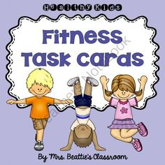 Fun Fitness Task Cards from Mrs. Beattie's Classroom on TeachersNotebook.com -  (24 pages)  - Fun Fitness Task Cards