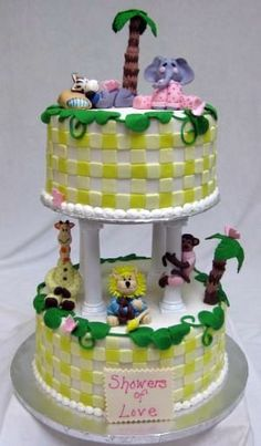 safari baby shower cake image