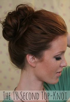 The 10 second top-knot.