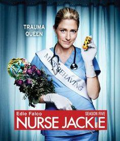 NURSE JACKIE SEASON 5.  http://highlandpark.bibliocommons.com/search?t=smart&search_category=keyword&q=nurse+jackie+fifth&commit=Search