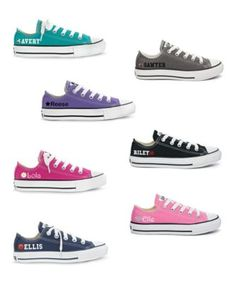 infants personalized low-top chuck taylors