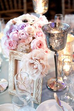 Mercury candle holders are a pretty and feminine touch to your decor. #weddings #romanticdecorations