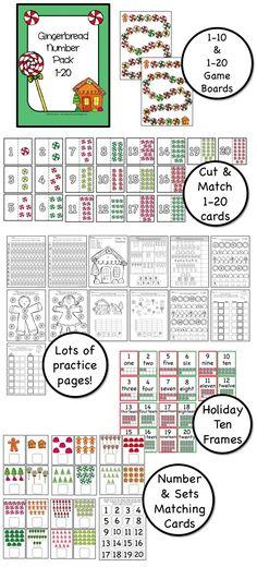 Numbers 1-20:  Gingerbread fun!