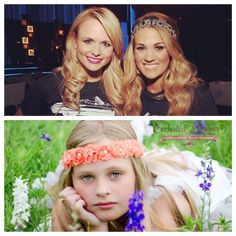 Carrie Underwood was recently seen in this bohemian style headband -- Get your own version by wearing the Madeline Coral Rosette Headband with Pearls on www.enchantedshimmer.com
