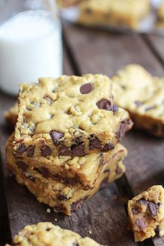 Whole Wheat Chocolate Chip Pumpkin Cookie Bars | halfbakedharvest.com @Heather Creswell Creswell Creswell Flores Baked Harvest