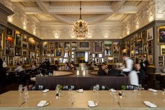 From opulent chandeliers to floor-to-ceiling framed art, enjoy Jason Atherton's signature Modern European dishes in the grandest of settings... even if it doesn't come cheap. Full details: http://www.timeout.com/london/restaurants/berners-tavern