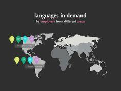 GREAT for presenting to parents on back to school night - El español es la segunda lengua más estudiada para los negocios